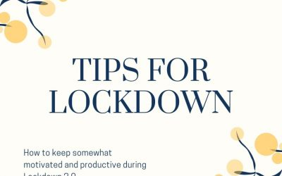 How to keep somewhat motivated and productive during Lockdown 2.0